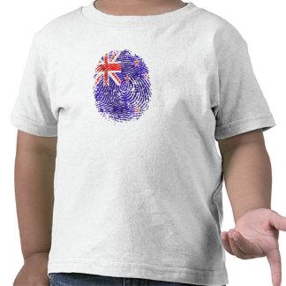 100 percent Kiwi DNA New Zealand flag fingerprint T-shirt