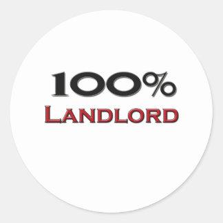 100 Percent Landlord Stickers