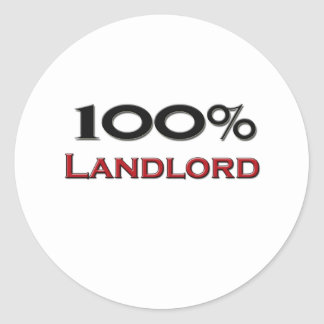 100 Percent Landlord Stickers
