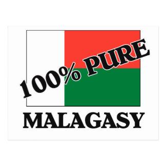100 Percent MALAGASY Postcard