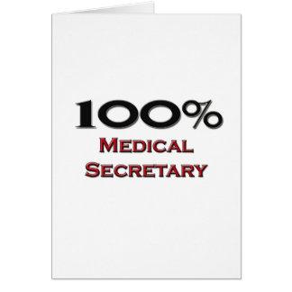 100 Percent Medical Secretary Card
