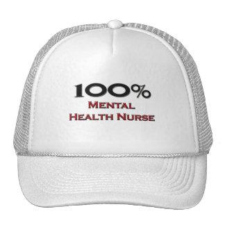 100 Percent Mental Health Nurse Mesh Hats