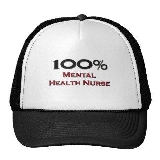 100 Percent Mental Health Nurse Hats