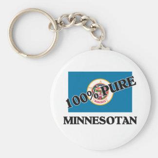100 Percent Minnesotan Basic Round Button Key Ring