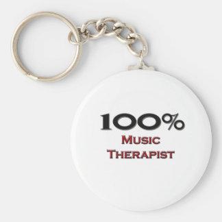 100 Percent Music Therapist Key Ring