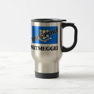 100 Percent Nutmegger Stainless Steel Travel Mug