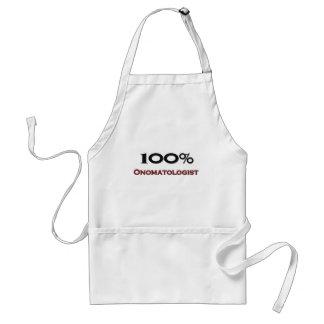 100 Percent Onomatologist Standard Apron