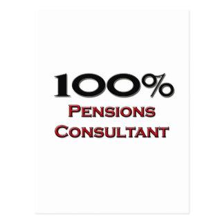 100 Percent Pensions Consultant Postcard