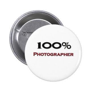 100 Percent Photographer 6 Cm Round Badge