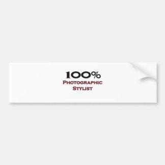 100 Percent Photographic Stylist Bumper Sticker