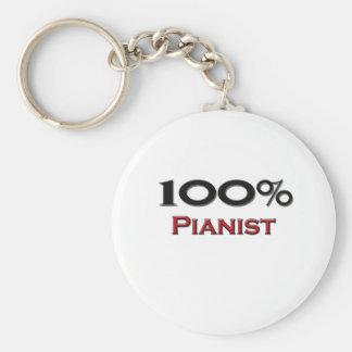 100 Percent Pianist Key Chain