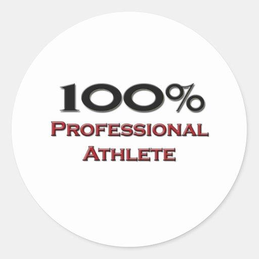 100 Percent Professional Athlete Sticker