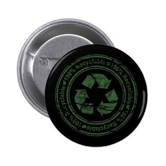 100 Percent Recyclable 6 Cm Round Badge