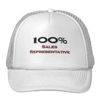 100 Percent Sales Representative Trucker Hats