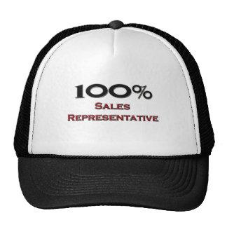 100 Percent Sales Representative Mesh Hats