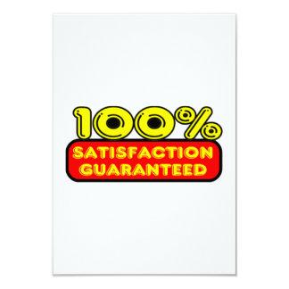 100 Percent Satisfaction Guaranteed 9 Cm X 13 Cm Invitation Card