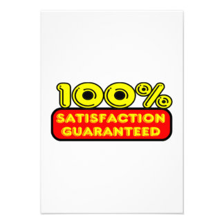 100 Percent Satisfaction Guaranteed Custom Invites