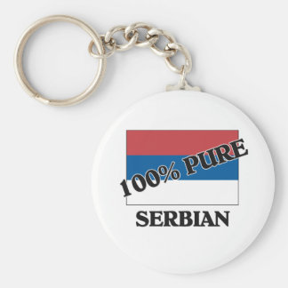 100 Percent SERBIAN Key Ring