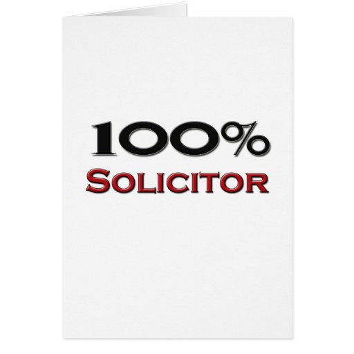 100 Percent Solicitor Card