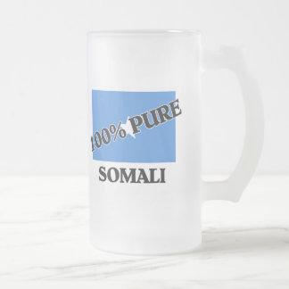 100 Percent SOMALI Frosted Glass Beer Mug