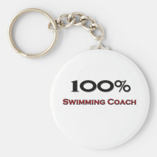 100 Percent Swimming Coach Keychains