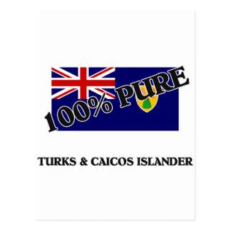 100 Percent TURKS & CAICOS ISLANDER Postcards