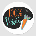 100 Percent Vegan Stickers