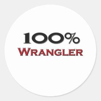 100 Percent Wrangler Stickers