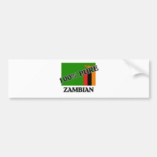 100 Percent ZAMBIAN Bumper Sticker