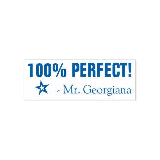 """100% PERFECT!"" Teacher Rubber Stamp"