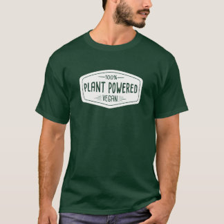 100% Plant Powered Vegan Funny T-Shirt