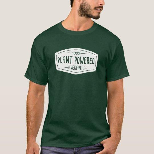 100% Plant Powered Vegan Funny T-Shirt