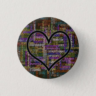 100 Positive Words 3 Cm Round Badge