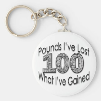 100 Pounds Lost Keychain