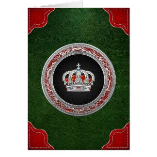 [100] Prince-Princess King-Queen Crown [Silver] Card