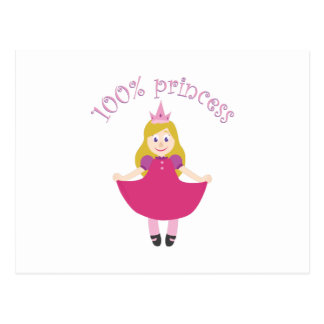 100% Princess Postcard