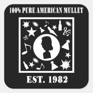 100 Pure American Mullet Est 1982 Square Stickers