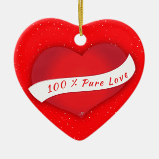 100% Pure love Christmas Ornament