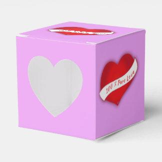 100% Pure love Favour Box