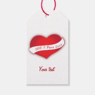 100% Pure love Gift Tags