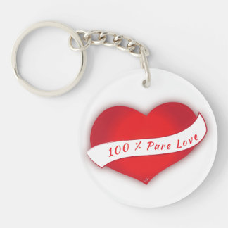 100% Pure love Key Ring