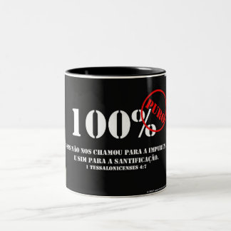 100% Pure one Two-Tone Coffee Mug