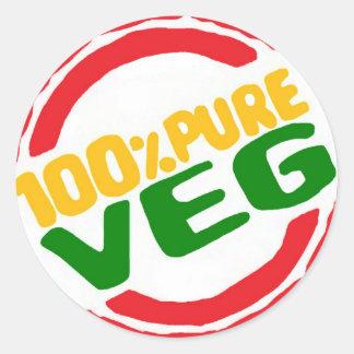 100 Pure Veg Sticker