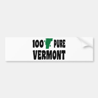 100% Pure Vermont Bumper Sticker