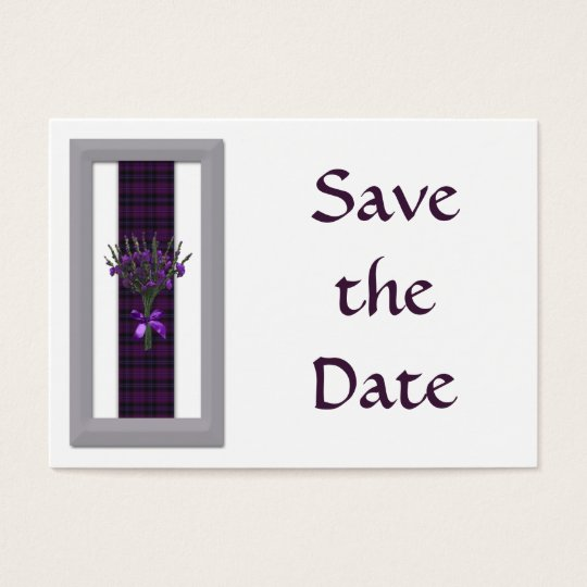 100 Purple Scottish Tartan & Heather Save the