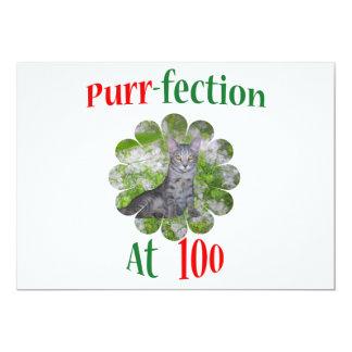 100 Purr-fection 13 Cm X 18 Cm Invitation Card