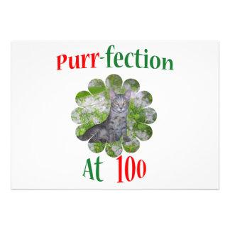 100 Purr-fection Custom Invite