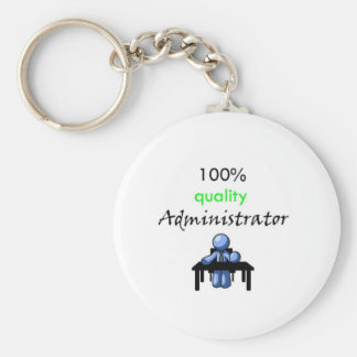 100% quality administrator basic round button key ring