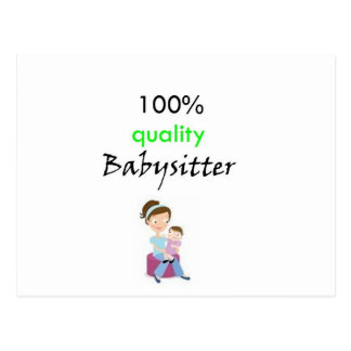 100 quality babysitter postcard