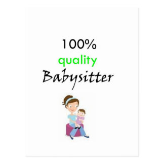 100 quality babysitter postcards